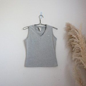 Nike vintage v-neck casual tank top